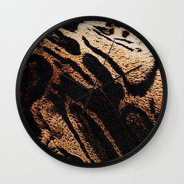 Fur pattern clouded leopard, big cat fur Wall Clock