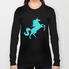 unity university unicorns (cyan) Long Sleeve T-shirt