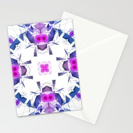 Geometric Alignment Stationery Cards