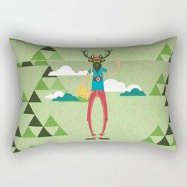 Ed the Elk Dream Vacation Rectangular Pillow