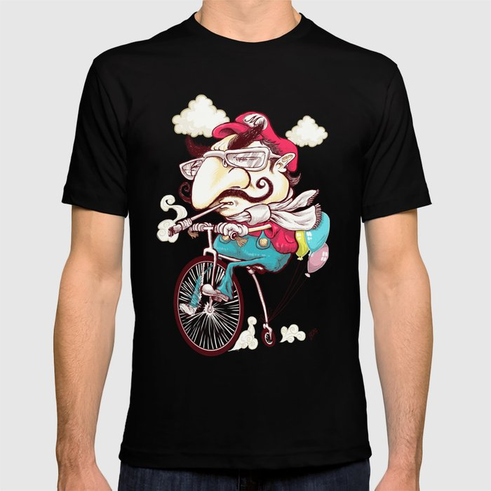 Hipster Mario T-shirt