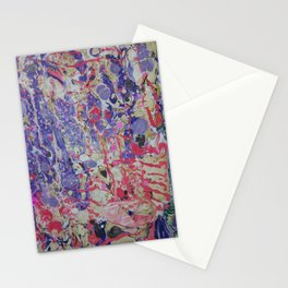 Flame On marbleized print Stationery Cards