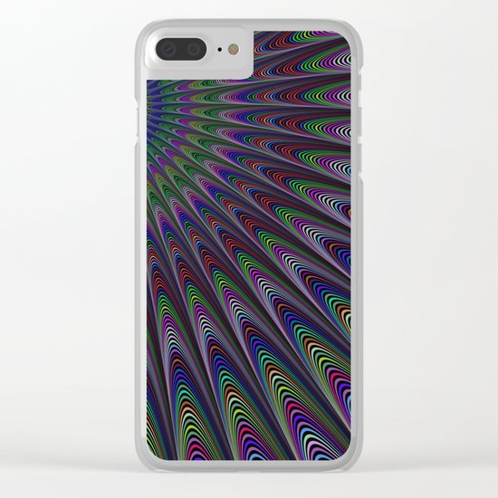 Psychedelic fractal sun Clear iPhone Case