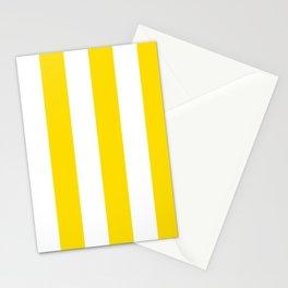 Classic Cabana Stripe in Lemon Yellow + White Stationery Cards