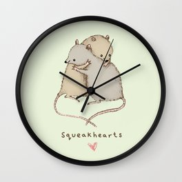 Squeakhearts Wall Clock