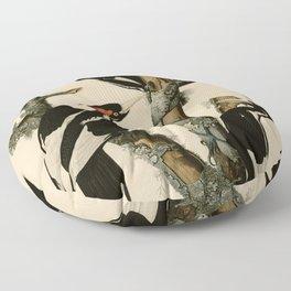 66 Ivory billed Woodpecker Floor Pillow