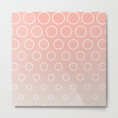 Pink to Blue Bubbles Metal Print