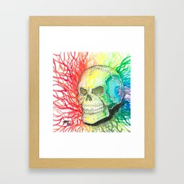 Polychromatic Skull Framed Art Print