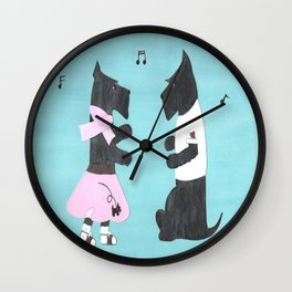 Back to the 50s - Scottish Terriers Wall Clock