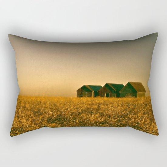 Sitting in Gold Rectangular Pillow