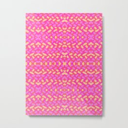 Pink and Yellow Sprinkle Brushstrokes Metal Print