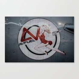 AV Fuel Pinup Girl Canvas Print