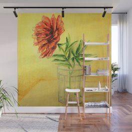 flower in a glass . illustration  ( https://society6.com/totalflora/collection ) Wall Mural