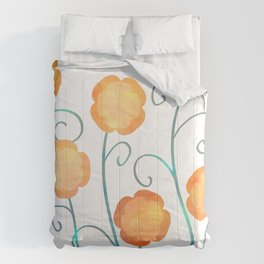 Silly Poppies Comforters