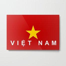 vietnam country flag viet nam name text Metal Print