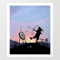 Hawkeye Kid Art Print