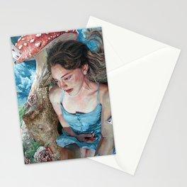 Alice in Wonderland, Portrait of Alice Stationery Cards