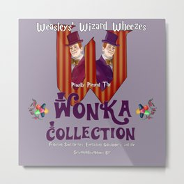 Weasleys' Wonka Collection Metal Print