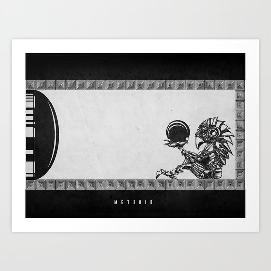 Metroid - The Chozo Geek Line Artly Art Print