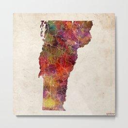 vermont map painting Metal Print