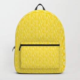 Yellow Zebra Print Pattern Backpack