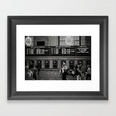Grand Central Saturday Framed Art Print