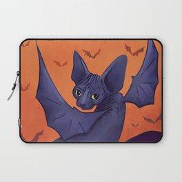 Black Bat Sphynx Kitten - Halloween Art Laptop Sleeve