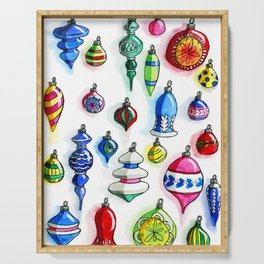 Vintage Ornaments Serving Tray
