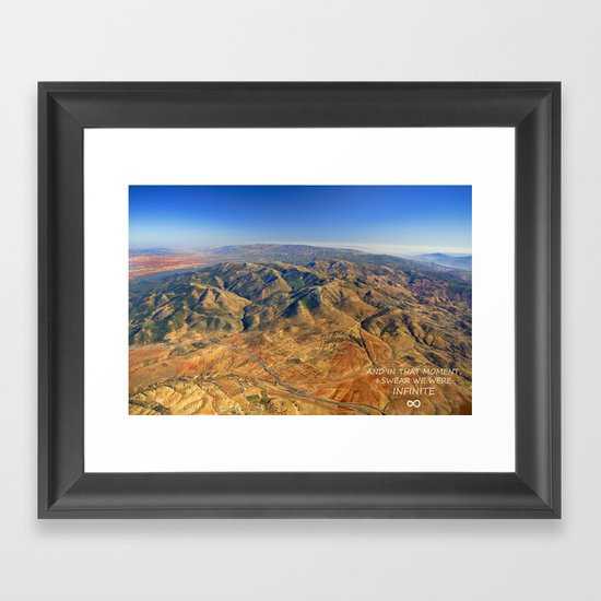 And in that moment, I swear we were infinite ∞. Aerial photo Framed Art Print
