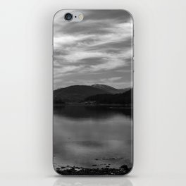 View over the Loch b/w iPhone Skin