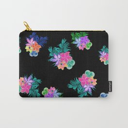 Bright Tropical Flowers Carry-All Pouch