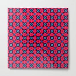 captivating kaleidoscope decorative blue and red Metal Print