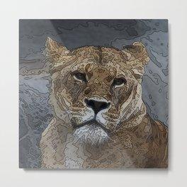 Animal ArtStudio 1016 lion Metal Print