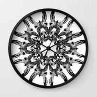 donkey Wall Clocks featuring Donkey Kaleidoscope  by Yann Thompson