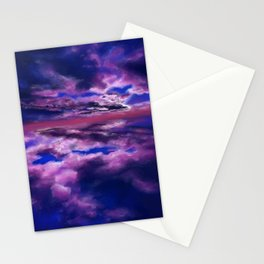 Purple Sky Stationery Cards