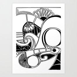 Retro Beat Art Print