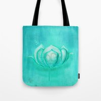 yoga Tote Bags featuring Yoga by SannArt