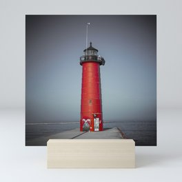 Kenosha Pierhead Light Selective Color Lake Michigan Lighthouse Wisconsin Mini Art Print