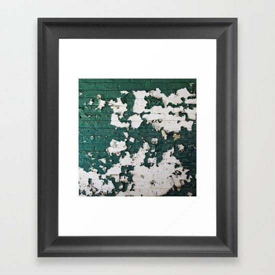 In Green Framed Art Print