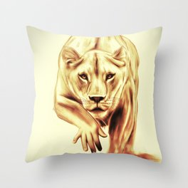 Hunting gently Throw Pillow