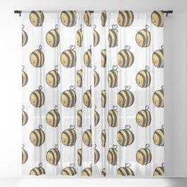 Bee Polka Dot Sheer Curtain