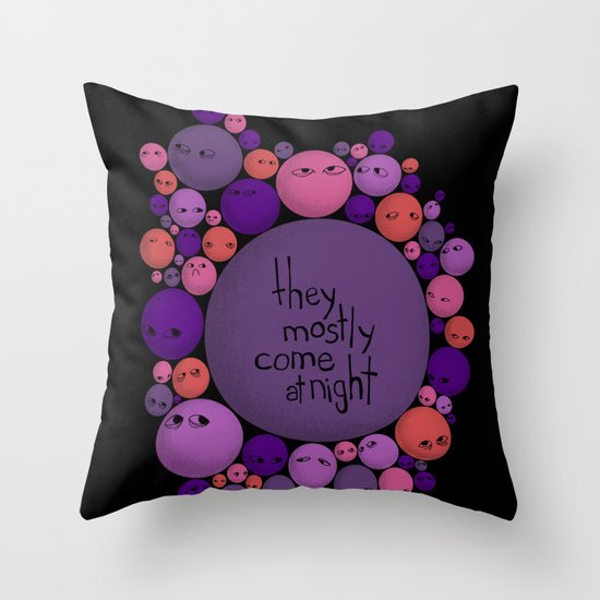 Mostly Throw Pillow