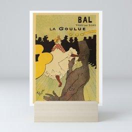 Paris nightlife 1891 Toulouse Lautrec Mini Art Print