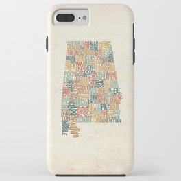 Alabama by County iPhone Case