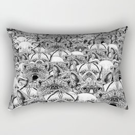 Animal Crowd Rectangular Pillow
