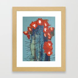 Cactus In Bloom Framed Art Print