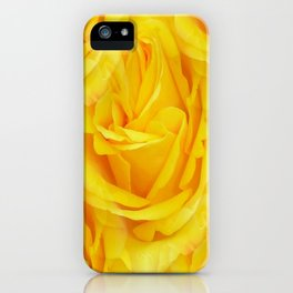 Modern Abstract Seamless Yellow Rose Petals iPhone Case