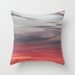 Pink Feathers Throw Pillow