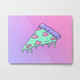 Alien pizza Metal Print