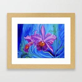 Hawaiian Orchid Lavender Framed Art Print